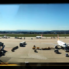 Photo taken at Lufthansa Business Lounge by Stephan B. on 4/15/2013