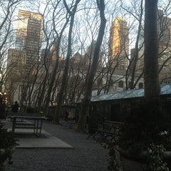 Photo taken at Southwest Porch at Bryant Park by Nikki C. on 1/7/2013