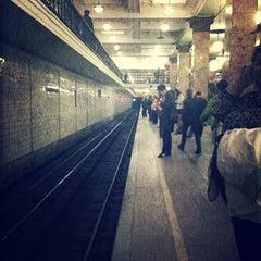 Photo taken at Метро Сокольники (metro Sokolniki) by Кеша . on 4/19/2013