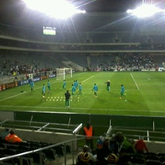 Photo taken at Orlando Stadium by Onkgopotse S. on 7/20/2013