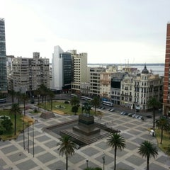 Photo taken at Plaza Independencia by Santiago T. on 2/12/2013