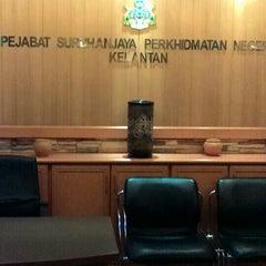Photo taken at Pejabat Setiausaha Kerajaan (SUK) Negeri Kelantan by Khairil A. on 10/27/2014