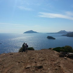 Photo taken at Ακρωτήρι Σουνίου (Cape Sounion) by Nell N. on 5/15/2013
