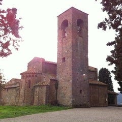 Photo taken at Pieve di Santa Maria e di San Leonardo by Francesco B. on 11/18/2012