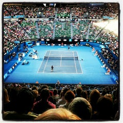 Photo taken at Rod Laver Arena by Andrew H. on 1/14/2013