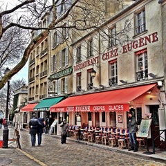 Photo taken at Place du Tertre by Marie-Eve V. on 3/19/2013