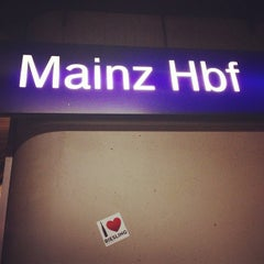 Photo taken at Mainz Hauptbahnhof by Paul T. on 12/6/2012