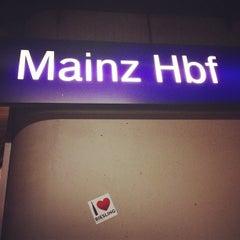 Photo taken at Mainz Hauptbahnhof by Paul T. on 12/6/2012