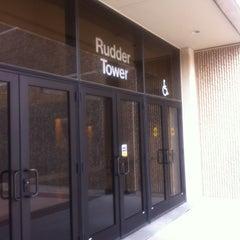 Photo taken at Rudder Tower by Lisa P. on 2/21/2013