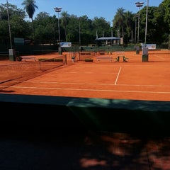 Photo taken at Paraguay Lawn Tennis CLUB by Licette B. on 4/26/2013