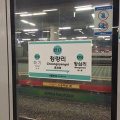 Photo taken at 청량리역 (Cheongnyangni Stn.) by Young Jun K.🙇🎗 on 10/15/2015