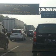 Photo taken at Jalan Tol Jakarta - Cikampek by Benny S. on 4/15/2015