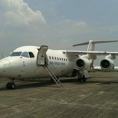 Photo taken at Bandar Udara Pondok Cabe (PCB) by Didik S. on 10/9/2013