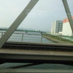 Photo taken at JR 下神崎川橋梁 by koryu m. on 5/24/2014