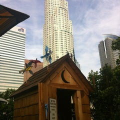 Photo taken at The Biergarten at The Standard, Downtown LA by South Park i. on 10/6/2012
