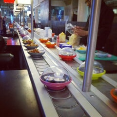 Photo taken at YO! Sushi by Marijus B. on 10/7/2012