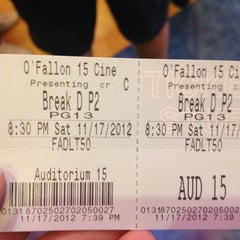 Photo taken at Wehrenberg O'Fallon 15 Cine by Katie C. on 11/18/2012