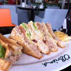 Photo taken at O'Briens Irish Sandwich Bar by Nurul A. on 10/21/2012