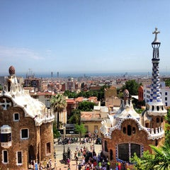 Photo taken at Park Güell by Linda F. on 7/24/2013
