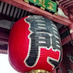 Photo taken at 浅草寺 雷門 (Kaminarimon Gate) by Scott Y. on 5/10/2013