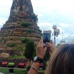 Photo taken at That Dam Stupa by Pavel B. on 7/8/2015
