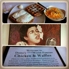 Photo taken at Dame's Chicken & Waffles by Lauren W. on 11/26/2012