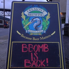 Photo taken at Fremont Brewing Company by Andrew E. on 12/7/2012