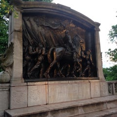 Photo taken at Robert Gould Shaw Memorial by Vicente O. on 6/5/2014