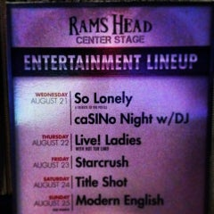 Photo taken at Rams Head Center Stage by allen b. on 8/20/2013