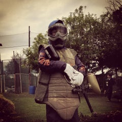 Photo taken at Al Limite Paintball by Gidward G. on 10/24/2015