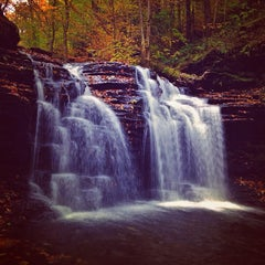 Photo taken at Ricketts Glen State Park by Aaron C. on 10/20/2012