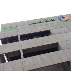 Photo taken at Banco BHD León by OSCAR BONE on 2/17/2014