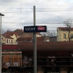 Photo taken at Gare SNCF de Vichy by Cécile on 1/30/2013