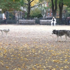 Photo taken at Tompkins Square Park Dog Run by Bonnie C. on 10/24/2012