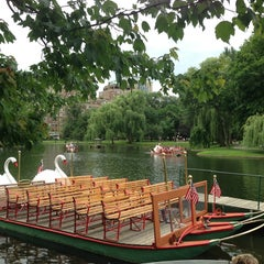 Photo taken at The Swan Boats by Heather H. on 7/3/2013