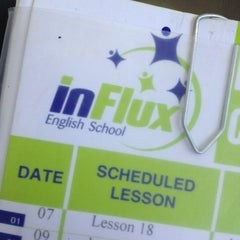 Photo taken at inFlux English School by Juliana B. on 12/4/2013