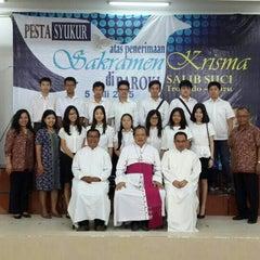 Photo taken at Gereja Katolik Salib Suci by Andy P. on 7/5/2015