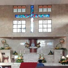 Photo taken at Gereja Katolik Salib Suci by Andy P. on 4/4/2015