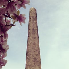 Photo taken at The Obelisk (Cleopatra's Needle) by Jane H. on 4/19/2013