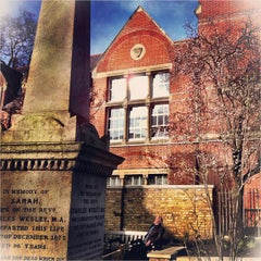 Photo taken at St Marylebone Parish Church Gardens by Chris K. on 3/24/2013