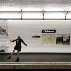 Photo taken at Métro Odéon [4,10] by Настя Ж. on 4/20/2015