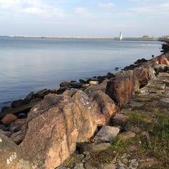 Photo taken at Kamienie przy falochronie by Tomasz on 11/10/2012