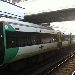 Photo taken at Horsham Railway Station (HRH) by Dan C. on 12/21/2012