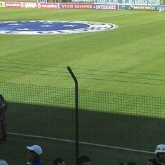 Photo taken at Estádio Joaquim Henrique Nogueira (Arena do Jacaré) - Democrata Futebol Clube by João Pedro A. on 6/8/2013
