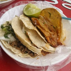 Photo taken at Tacos El Güero Transito by oswaldo g. on 12/6/2014
