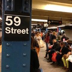 Photo taken at MTA Subway - 59th St/Columbus Circle (A/B/C/D/1) by Marc S. on 5/4/2013