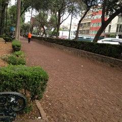 Photo taken at Parque Arboledas by Brenda V. on 3/31/2013