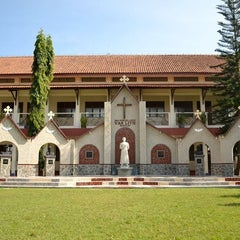 Photo taken at SMA Pangudi Luhur Van Lith by Joseph P. on 1/12/2014