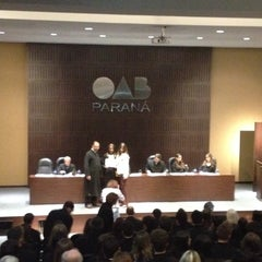 Photo taken at Ordem dos Advogados do Brasil (OAB/PR) by Marcelo Miró on 5/4/2015