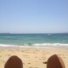Photo taken at Παραλία Πλάκας (Plaka Beach) by Thaleia B. on 7/22/2013